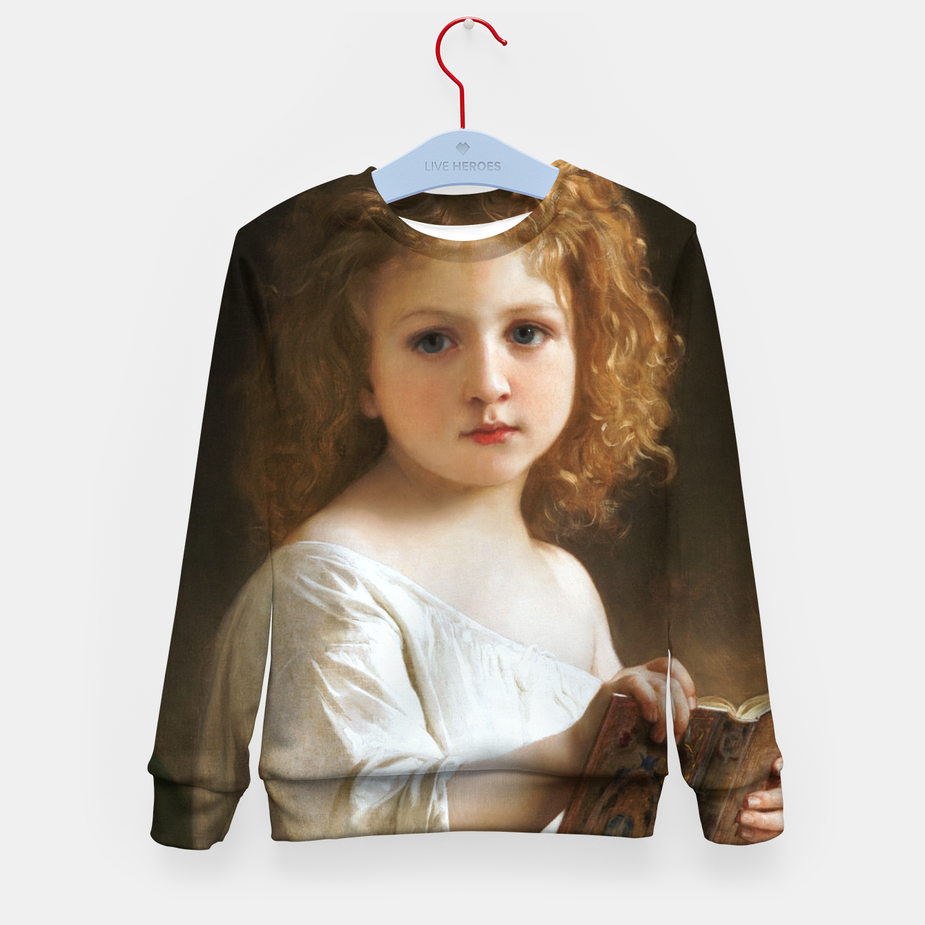 Image of The Story Book by William-Adolphe Bouguereau Kid's sweater - Live Heroes