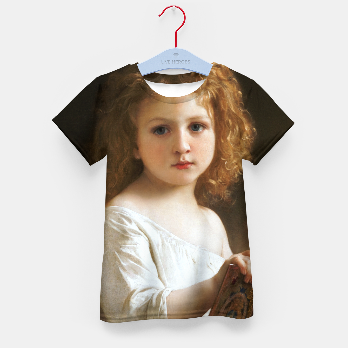 Image of The Story Book by William-Adolphe Bouguereau Kid's t-shirt - Live Heroes