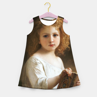 The Story Book by William-Adolphe Bouguereau Girl's summer dress thumbnail image