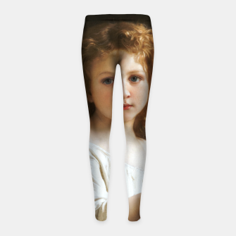 Thumbnail image of The Story Book by William-Adolphe Bouguereau Girl's leggings, Live Heroes