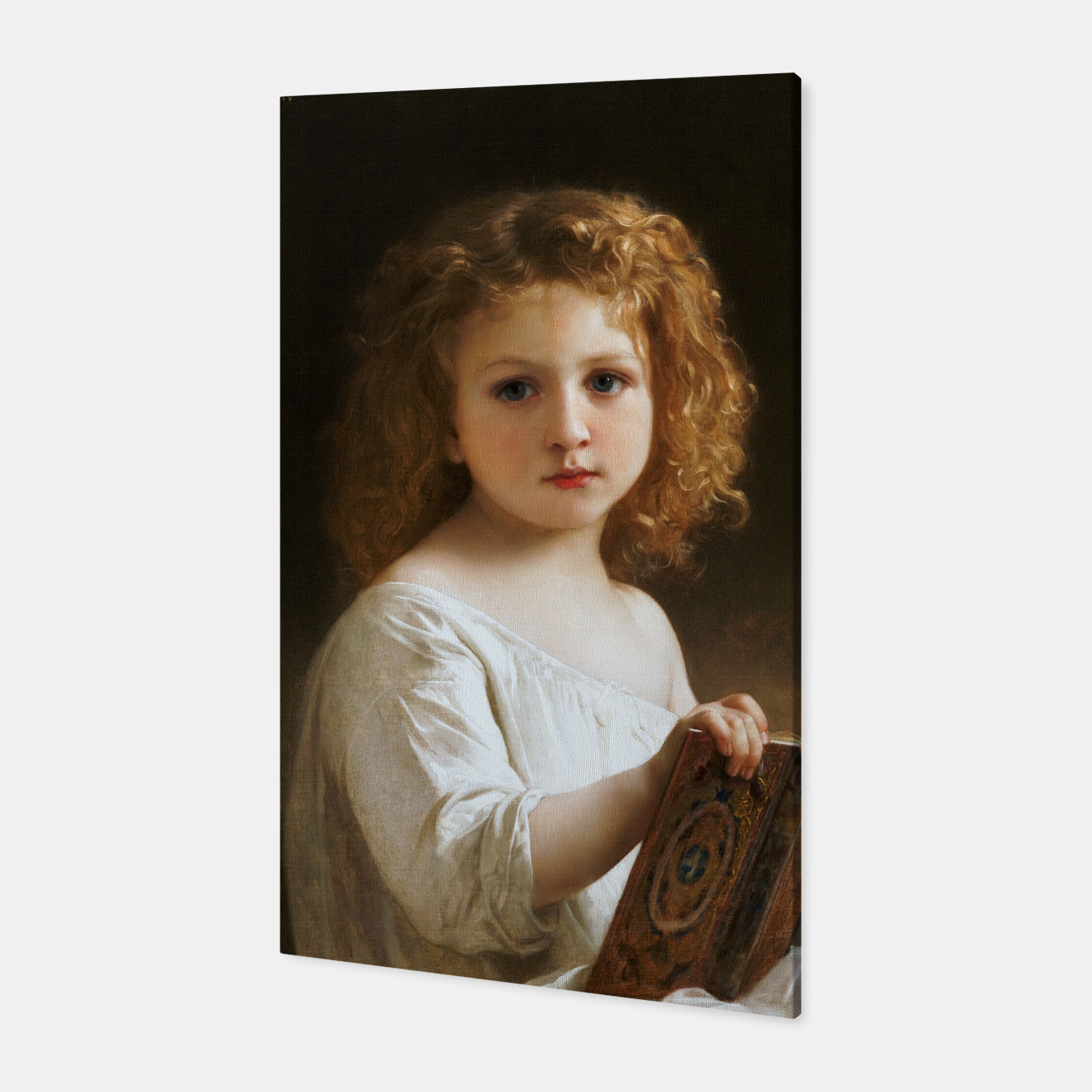 Image of The Story Book by William-Adolphe Bouguereau Canvas - Live Heroes