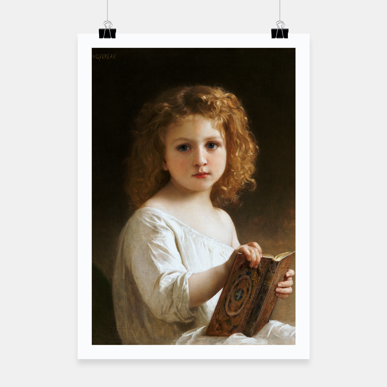 Image of The Story Book by William-Adolphe Bouguereau Poster - Live Heroes