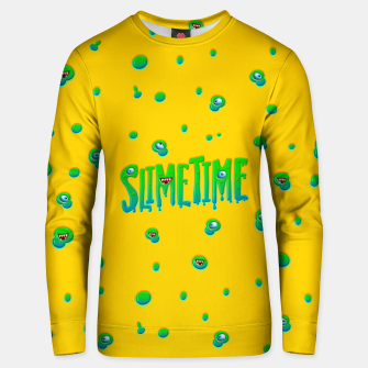 Slime Time Typo Funny Monster Illustration Unisex sweatshirt obraz miniatury