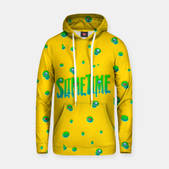Slime Time Typo Funny Monster Illustration Kapuzenpullover obraz miniatury