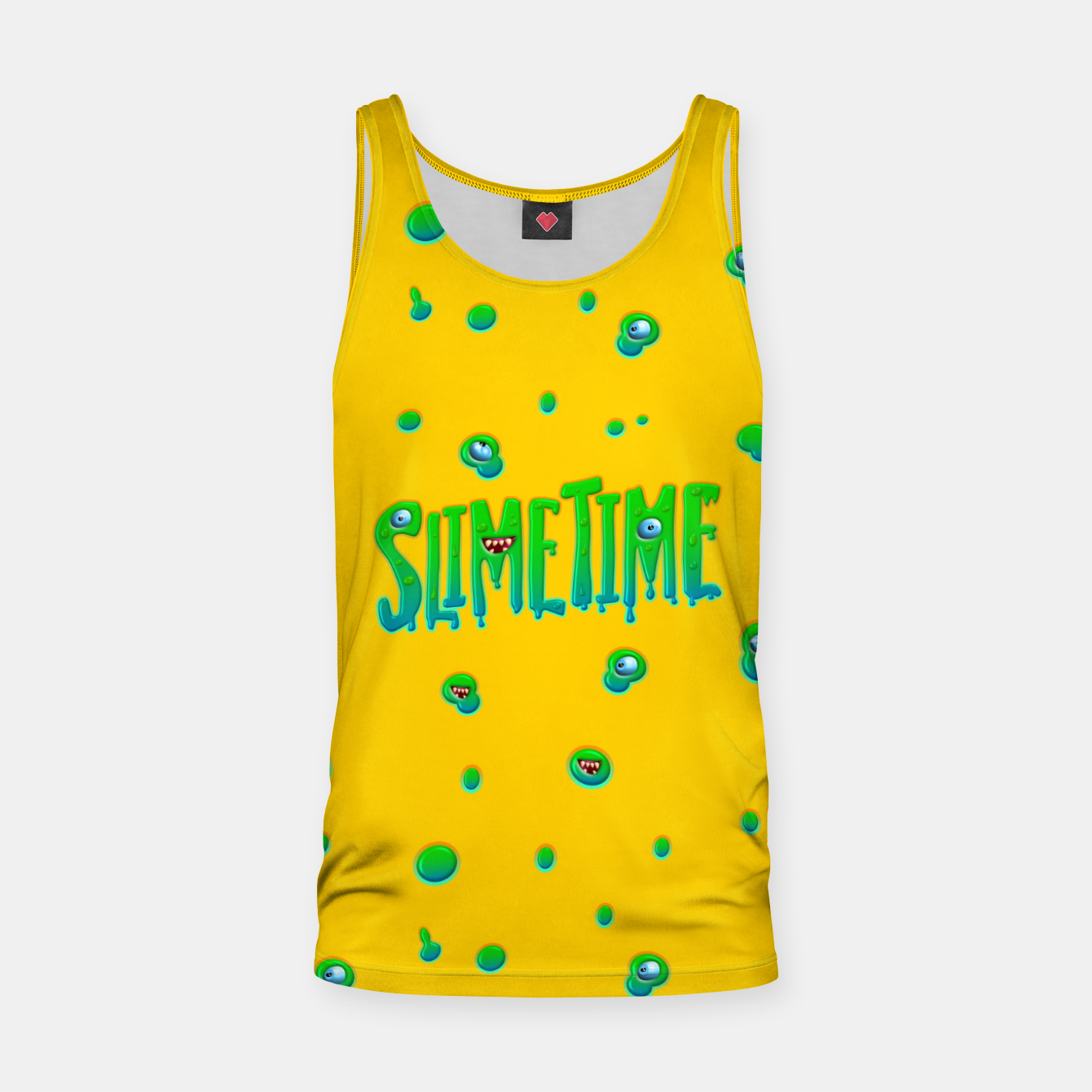 Zdjęcie Slime Time Typo Funny Monster Illustration Muskelshirt  - Live Heroes