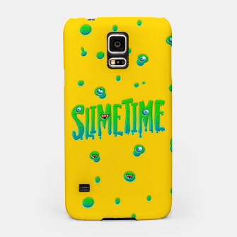 Thumbnail image of Slime Time Typo Funny Monster Illustration Handyhülle für Samsung, Live Heroes