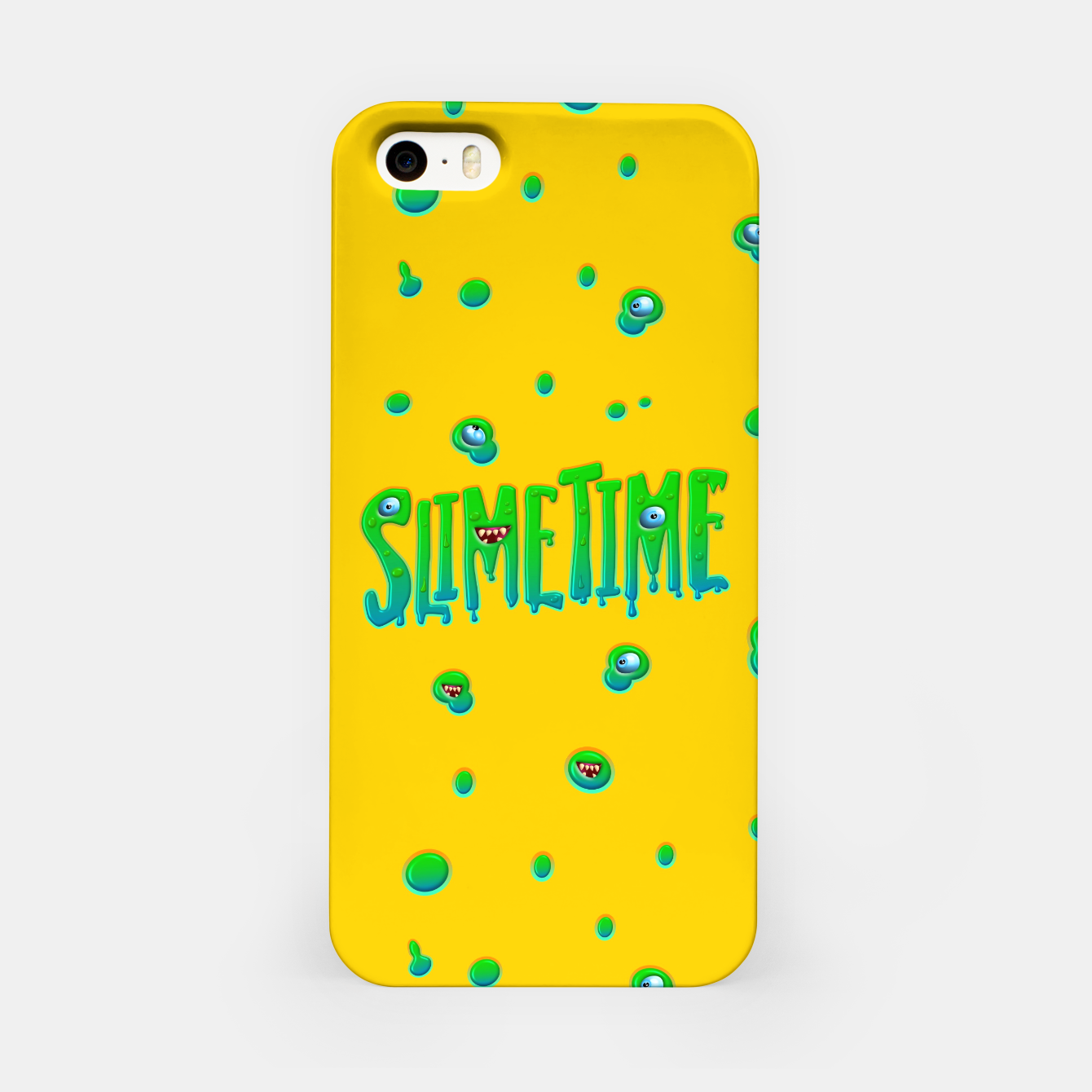 Zdjęcie Slime Time Typo Funny Monster Illustration iPhone-Hülle - Live Heroes