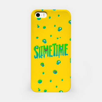 Slime Time Typo Funny Monster Illustration iPhone-Hülle thumbnail image