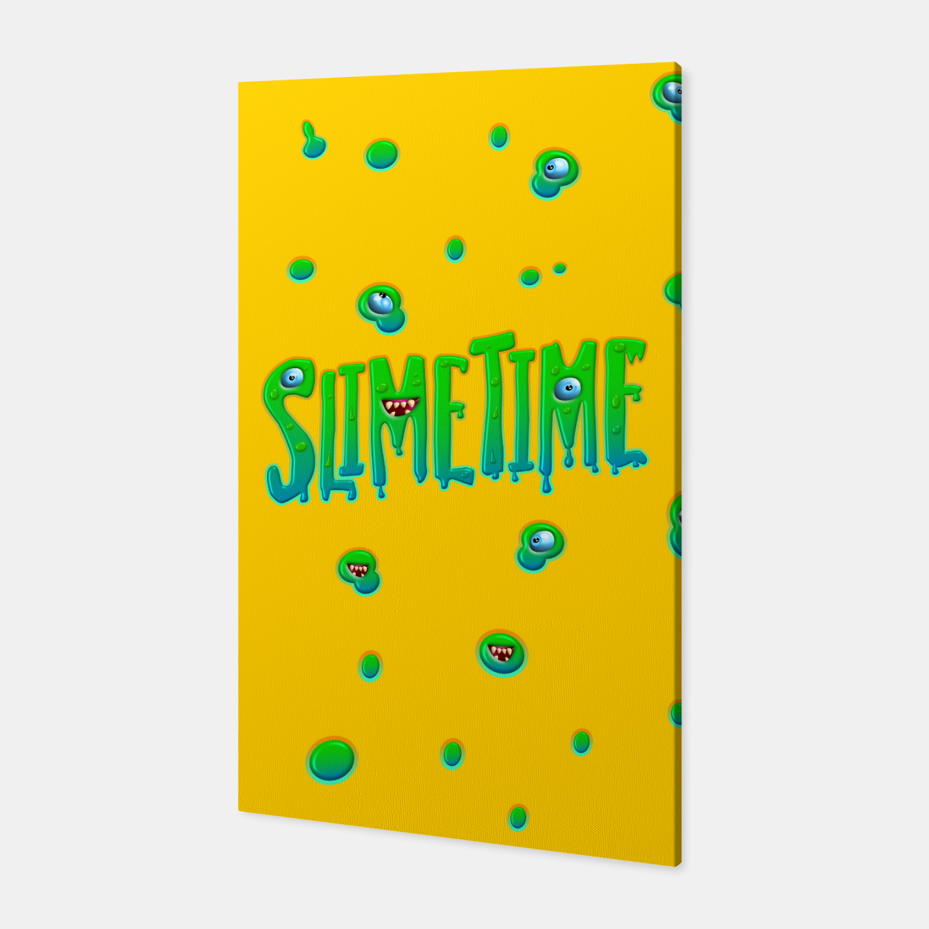 Zdjęcie Slime Time Typo Funny Monster Illustration Canvas - Live Heroes