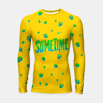 Slime Time Typo Funny Monster Illustration Longsleeve rashguard obraz miniatury