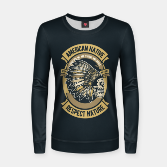 AMERICAN NATIVE - Together we are Strong & Brave Women sweater thumbnail image