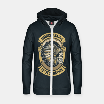 AMERICAN NATIVE - Together we are Strong & Brave Zip up hoodie thumbnail image