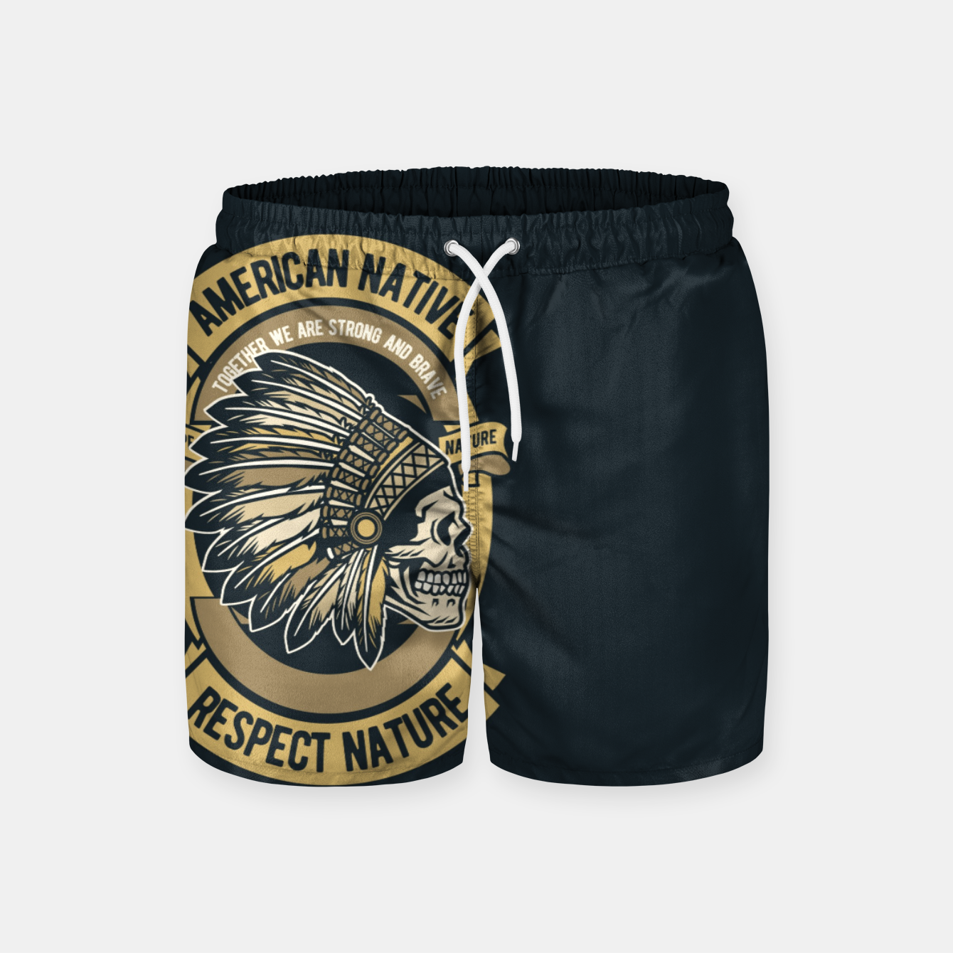 Image of AMERICAN NATIVE - Together we are Strong & Brave Swim Shorts - Live Heroes