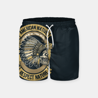 AMERICAN NATIVE - Together we are Strong & Brave Swim Shorts thumbnail image