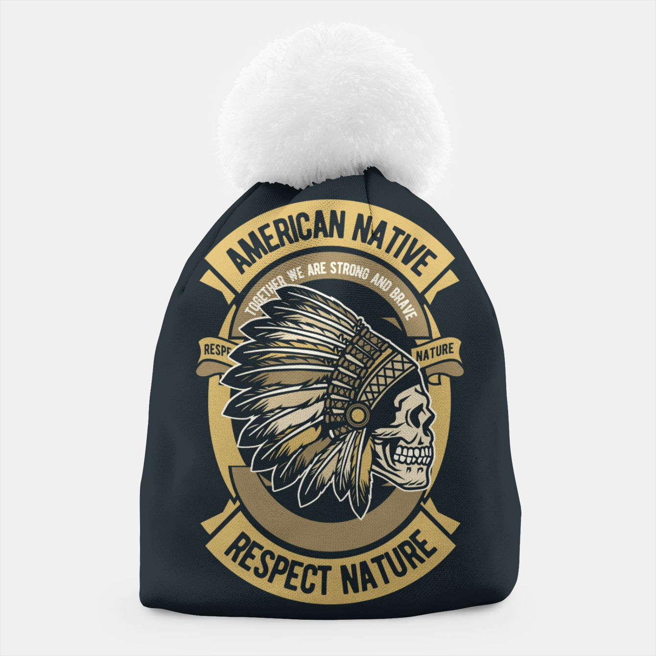 Image of AMERICAN NATIVE - Together we are Strong & Brave Beanie - Live Heroes