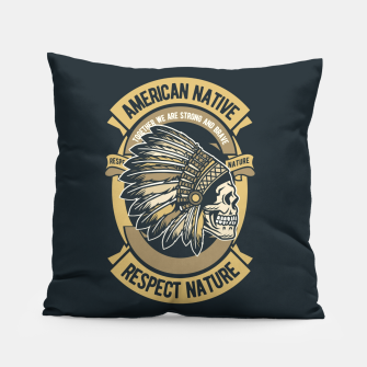 AMERICAN NATIVE - Together we are Strong & Brave Pillow thumbnail image