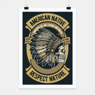 AMERICAN NATIVE - Together we are Strong & Brave Poster thumbnail image