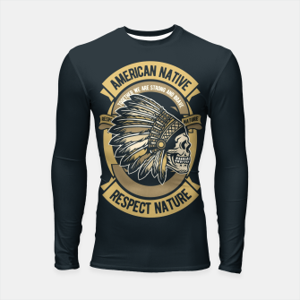 AMERICAN NATIVE - Together we are Strong & Brave Longsleeve rashguard  thumbnail image