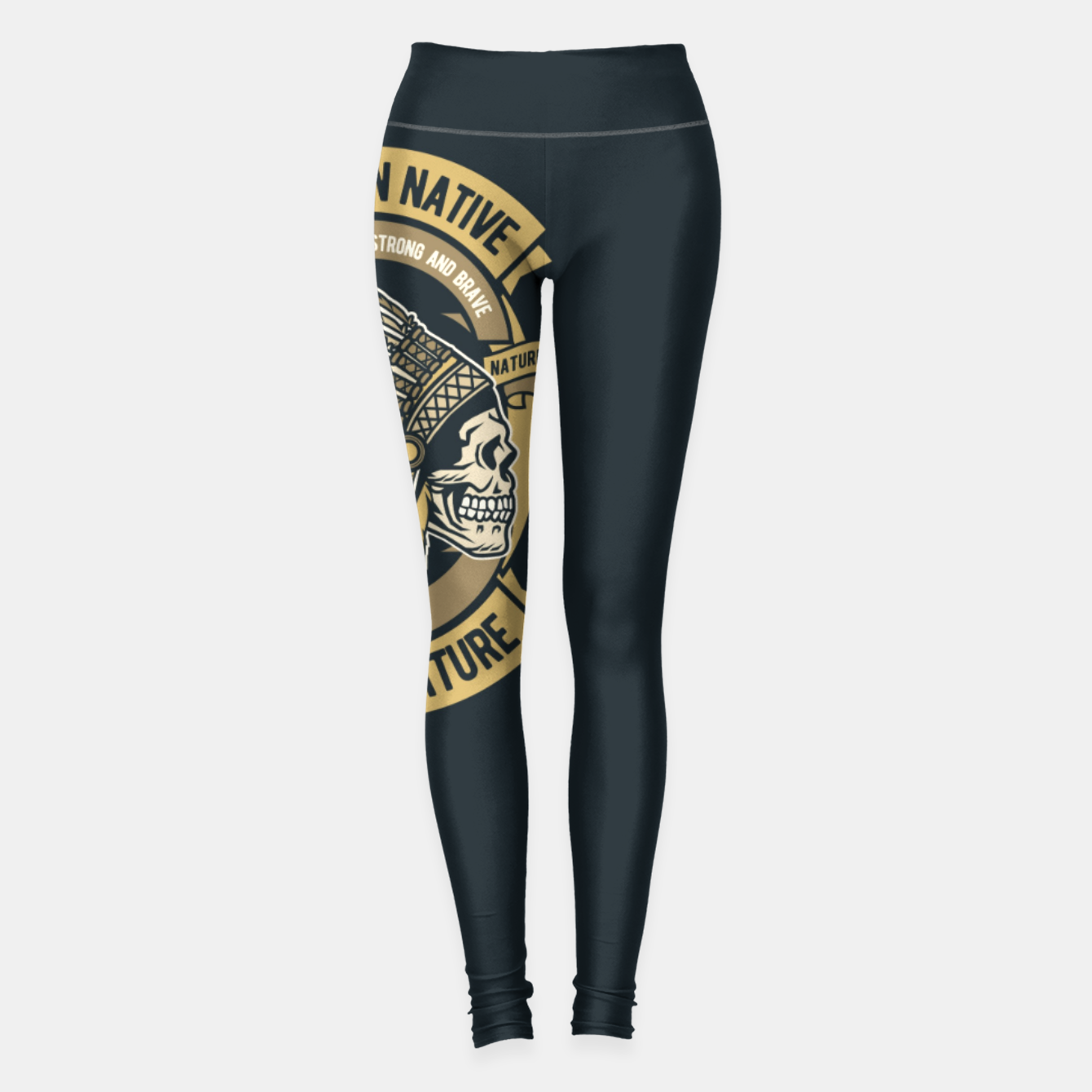 Image of AMERICAN NATIVE - Together we are Strong & Brave Leggings - Live Heroes