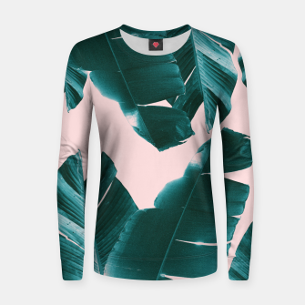 Thumbnail image of Banana Leaves Tropical Vibes #1 #foliage #decor #art Frauen sweatshirt, Live Heroes