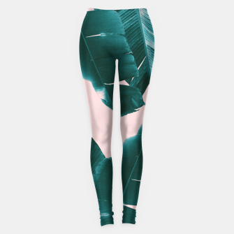 Thumbnail image of Banana Leaves Tropical Vibes #1 #foliage #decor #art Leggings, Live Heroes