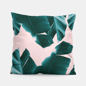Thumbnail image of Banana Leaves Tropical Vibes #1 #foliage #decor #art Kissen, Live Heroes