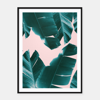 Thumbnail image of Banana Leaves Tropical Vibes #1 #foliage #decor #art Plakat mit rahmen, Live Heroes