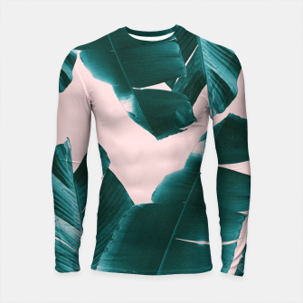 Thumbnail image of Banana Leaves Tropical Vibes #1 #foliage #decor #art Longsleeve rashguard, Live Heroes