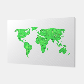Miniaturka Environment Concept World Map Illustration Canvas, Live Heroes