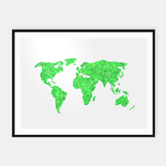 Miniaturka Environment Concept World Map Illustration Framed poster, Live Heroes
