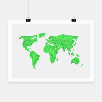 Miniaturka Environment Concept World Map Illustration Poster, Live Heroes