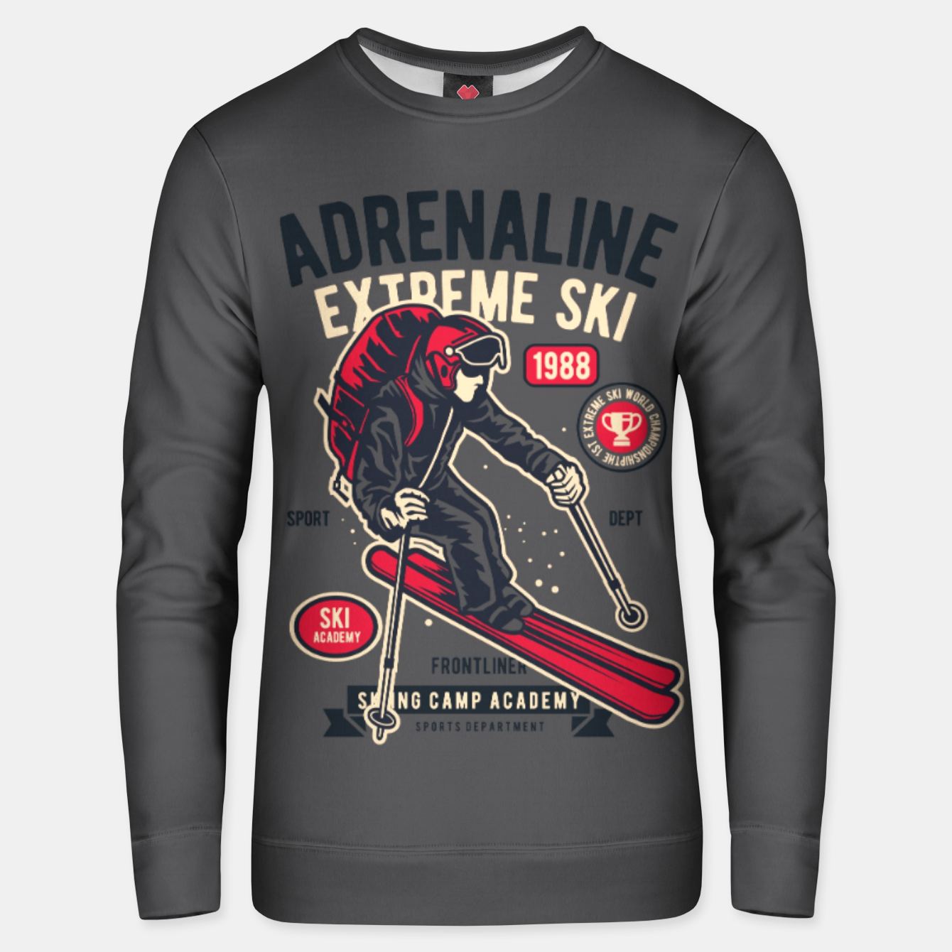 Image of ADRENALIN EXTREME SKI - Skiing Camp Academy Unisex sweater - Live Heroes