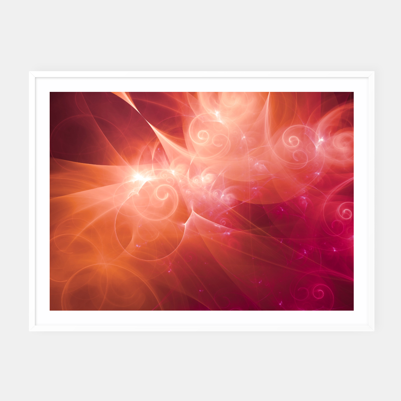 Image of Swirls and Curls Framed poster - Live Heroes