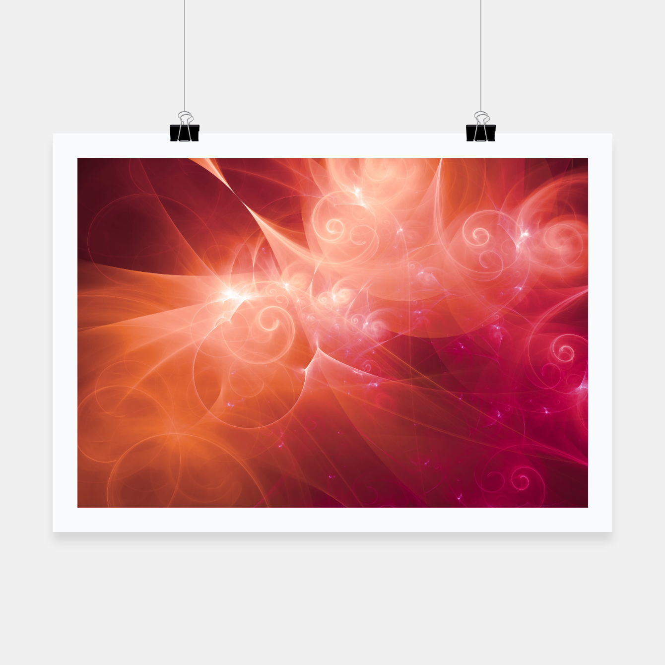 Image of Swirls and Curls Poster - Live Heroes