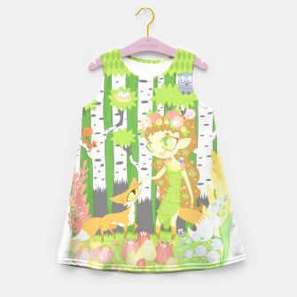 Miniaturka the Forest Guardian (skogsrå) and the Fox Girl's summer dress, Live Heroes