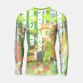 Miniaturka the Forest Guardian (skogsrå) and the Fox Longsleeve rashguard , Live Heroes