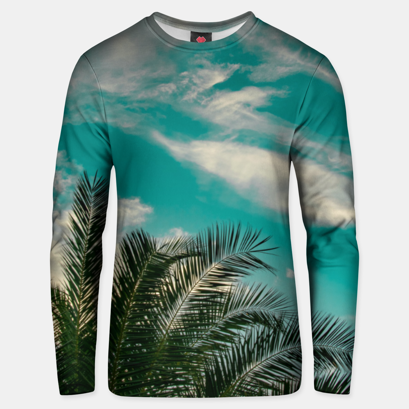 Image of Palms on Turquoise - II Unisex sweater - Live Heroes