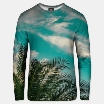 Thumbnail image of Palms on Turquoise - II Unisex sweater, Live Heroes