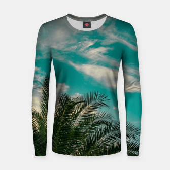Miniaturka Palms on Turquoise - II Women sweater, Live Heroes