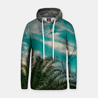 Thumbnail image of Palms on Turquoise - II Hoodie, Live Heroes