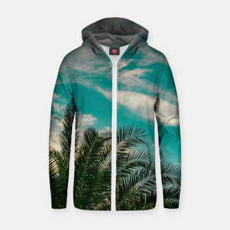Thumbnail image of Palms on Turquoise - II Zip up hoodie, Live Heroes