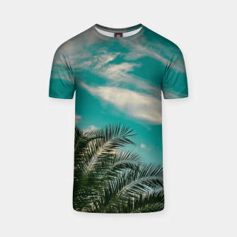 Thumbnail image of Palms on Turquoise - II T-shirt, Live Heroes