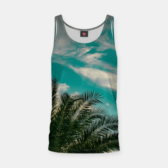 Thumbnail image of Palms on Turquoise - II Tank Top, Live Heroes