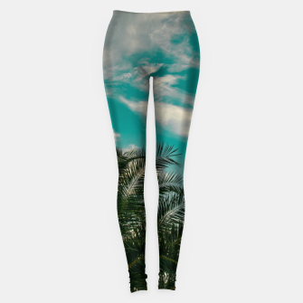Miniaturka Palms on Turquoise - II Leggings, Live Heroes