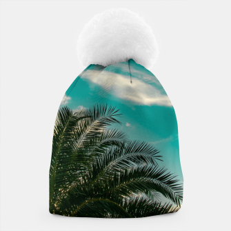 Thumbnail image of Palms on Turquoise - II Beanie, Live Heroes
