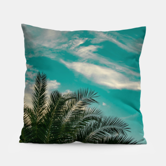 Thumbnail image of Palms on Turquoise - II Pillow, Live Heroes