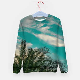Thumbnail image of Palms on Turquoise - II Kid's sweater, Live Heroes