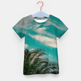 Miniaturka Palms on Turquoise - II Kid's t-shirt, Live Heroes