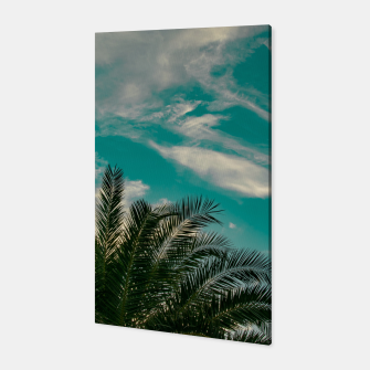 Miniaturka Palms on Turquoise - II Canvas, Live Heroes