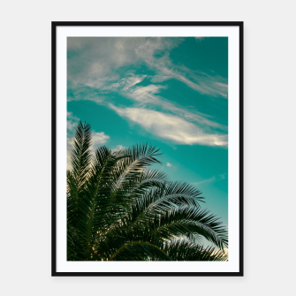 Thumbnail image of Palms on Turquoise - II Framed poster, Live Heroes